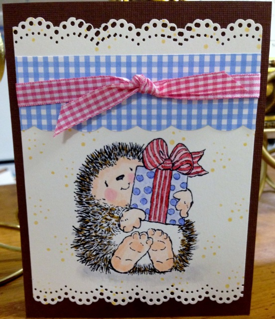 Handmade Country Birthday Card Inside Outside